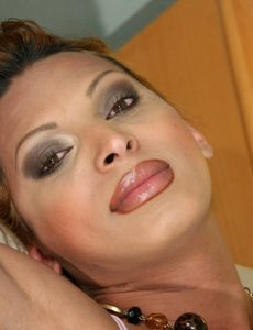 Big-boobed Lalin girl Lady-boy Jerks Off And Cums Hard On Herself